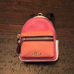 Coach Mini Backpack Keychain NWT